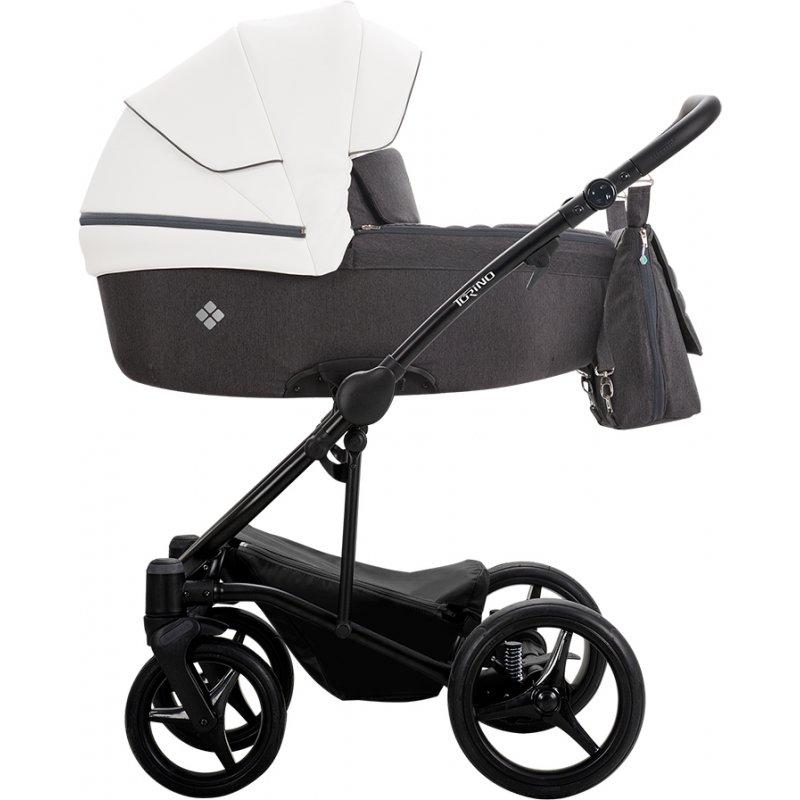 Коляска 2в1 Bebetto Torino 01 Сірий - Графіт / Чорна рама