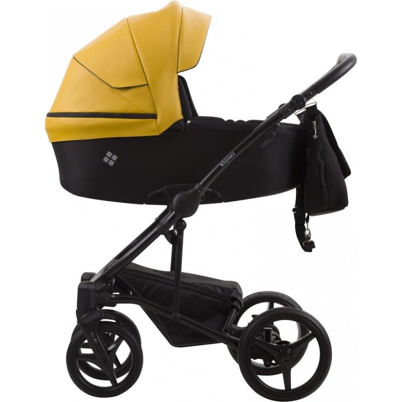 Коляска 2в1 Bebetto Torino 09 Жовтий / Чорна рама